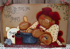 Gingerbread Hand Painted Baking Tray Wall by PaintingByEileen, $31.00
