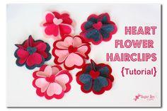 heart flower hairclip tutorial