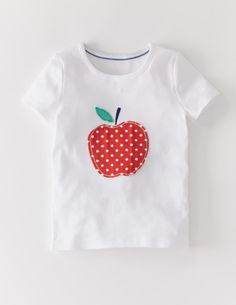 I've spotted this @BodenClothing Dotty Appliqué T-shirt White Apple