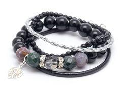 Wristbands & Bracelets – Set bracelets AGR – a unique product by Blackif on DaWanda
