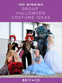 Transform your whole crew into the characters from Alice in Wonderland for Halloween.