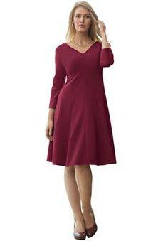 V-Neck Dress in Crepe | Plus Size Dress & Suit Sale | Jessica London