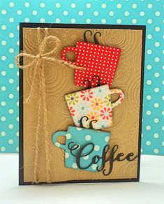 Cricut Cards, Stampin Up Cards, Cute Cards, Diy Cards, Coffee Blog, Coffee Latte, Coffee Mugs, Coffee Lovers, Chemex Coffee