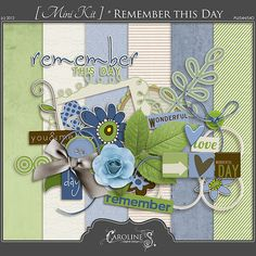 Remember This Day mini kit freebie from Caroline S.