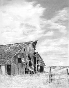 Pencil Drawing Patterns BARNS - Graphite Pencil Drawings by Diane Wright Pencil Drawing Tutorials, Drawing Projects, Pencil Sketching, Drawing Ideas, Building Sketch, Building Art, Love Drawings, Beautiful Drawings, Graphite Art