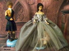 OOAK OutLander Jamie & Claire Inspired Scottish Doll Barbie Craigh Na Dun Witch