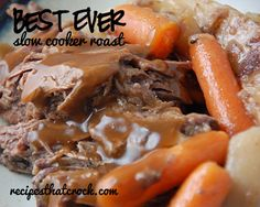 Recipes That Crock! - cRockin' Slow Cooker Recipes All Year 'Round! Delicious crock pot recipes for Pot Roast, Pork, Chicken, soups and desserts! Try our famous crockpot recipes! Slow Cooker Roast, Crock Pot Slow Cooker, Slow Cooker Recipes, Crockpot Recipes, Cooking Recipes, Healthy Recipes, Crock Pot Food, Crockpot Dishes, Beef Dishes