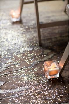Wedding aisle confetti - we do love a bit of sparkle...