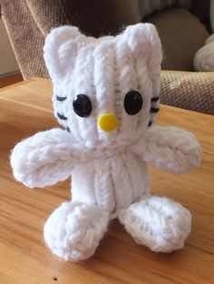 The Loom Muse Creations and Ideas: How to Loom Knit Hello Kitty