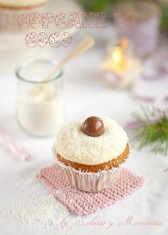 Sabores y Momentos | Cupcakes de Coco {para Navidad} | http://saboresymomentos.es