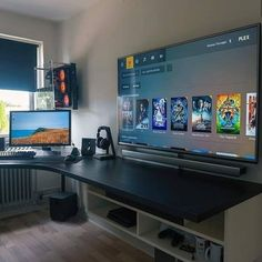 computer desk setup / setup computer _ setup computer desks _ setup computer home office _ setup computer work spaces _ setup computer computers _ computer desk setup _ gaming room setup computer desks _ gaming computer setup Computer Gaming Room, Computer Desk Setup, Gaming Room Setup, Computer Diy, Best Gaming Setup, Gaming Desk With Storage, Computer Room Decor, Computer Cake, Gaming Rooms
