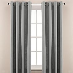 Gray and white linen curtains with different length options - around $50
