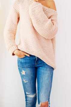 Easy guide on how to knit this oversize sweater - FREE PATTERN