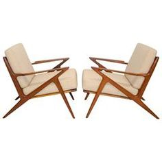 View This Item And Discover Similar Lounge Chairs For Sale At   Stylish  Pair Of Danish Z Lounge Chairs Designed By Poul Jensen And Manufactured By  Selig.