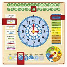 Orologio calendario italiano