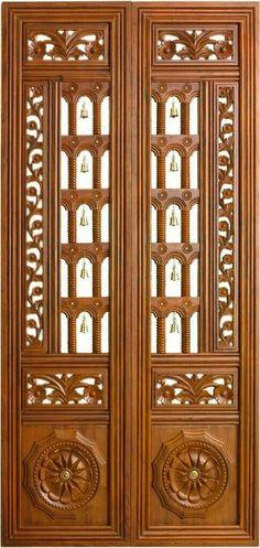 Pooja Door Design Modern 28 Ideas For 2019 Pooja Room Door Design, Bedroom Door Design, Door Design Interior, Design Interiors, Modern Interior, Modern Decor, Double Door Design, Main Door Design, Front Door Design