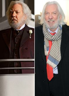 Donald Sutherland as President Snow  Parade Magazine  He wrote to Gary Ross basically asking for the part.