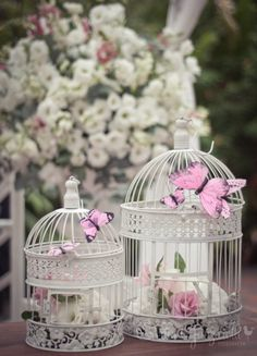 how delicate! how delicate! Butterfly Wedding Theme, Butterfly Birthday, Baby Shower Decorations, Flower Decorations, Butterfly Centerpieces, Wedding Centerpieces, Wedding Decorations, Bird Cage Centerpiece, Flowery Wallpaper