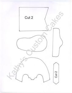 Gumpaste Baby Cowboy Boot Template By Kathy's Custom Cakes. Used By Sugar Diva… American Girl Clothes, Girl Doll Clothes, Doll Clothes Patterns, Doll Patterns, Girl Dolls, Sewing Patterns, Cowboy Boot Cake, Baby Cowboy Boots, Baby Boots