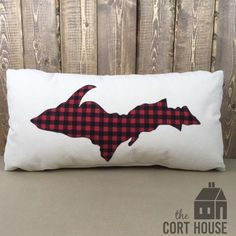 Michigan man cave pillow   Yooper pillow   upper peninsula by TheCortHouse