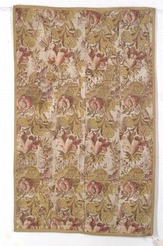Silk Brocaded Textile, Europe, 18th century, (pieced together, small areas of wear), 4 ft. 10 in. x 3 ft.     Provenance: Formerly in the collection of Mustafa Avigdor, Brookline, Massachusetts.    | Skinner Auctioneers Sale 2347