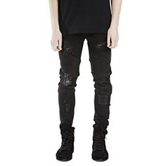 >> Click to Buy << Hole Jeans Men Pants Fear of God Man Masculina Trousers Pant Boost Biker Balmai Ripped Skinny Denim Motorcycle Slim Fit Joggers #Affiliate