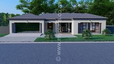 4 Bedroom House Plan – My Building Plans South Africa bedroom house plans farmhouse Free House Plans, Family House Plans, Contemporary House Plans, Modern House Plans, House Roof, Facade House, Tuscan House Plans, House Plans South Africa, African House