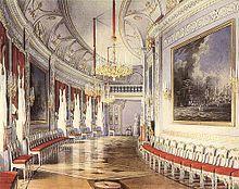 Tschesma-Galerie von Schloss Gatschina in St. Petersburg