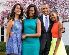 President Barack Obama & First Lady Michelle With Daughters | Etsy Beyonce, Rihanna, Michelle Obama, Barack Obama, Ella Fitzgerald, Mac Miller, John Legend, Joe Biden, Shawn Mendes