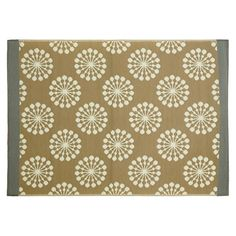 Teppich Outdoor Blume taupe ca L:90 x B:150 cm (95% Polypropylen, 5% Polyester)