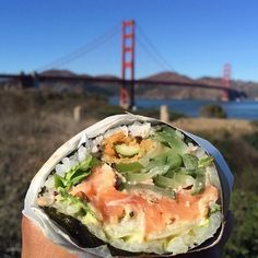 Get a sushi burrito at Sushirrito. | 15 Local San Francisco Chains To Hit Up For A Delicious Lunch