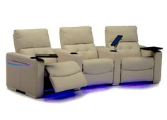 LED lights & acrylic side table....(c/o palliser home theatre seating)