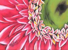 oil pastel gerber daisy