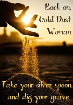 Gold Dust Woman - Fleetwood Mac- Classic Rock Lyrics youtubemusicsucks.com #fleetwoodmac #stevienicks