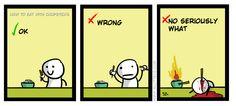 How to Eat with Chopsticks Chopsticks, I Am Awesome, Comics, Eat, Funny, Ha Ha, Comic Books, Comic Book, Comic