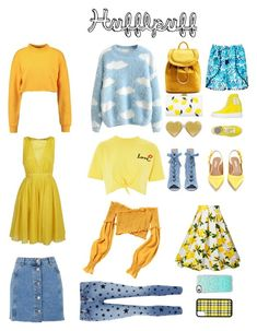 Hufflepuff Wardrobe by izzy-fizzy251004 on Polyvore featuring polyvore, fashion, style, N°21, Topshop, Current/Elliott, Brigitte, Tabitha Simmons, Ruco Line, Diane Von Furstenberg, Edie Parker, Casetify, Gucci and clothing