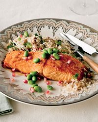 This pomegranate-glazed salmon is YUM