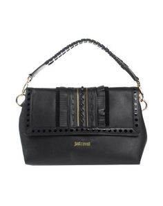 JUST CAVALLI Handbag. #justcavalli #bags #shoulder bags #clutch #stone #leather #hand bags #