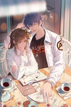 Love Cartoon Couple, Manga Couple, Anime Love Couple, I Love Anime, Cute Anime Guys, Hot Anime Couples, Romantic Anime Couples, Anime Couples Drawings, Anime Chibi