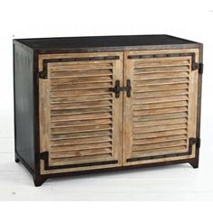 Portsmouth Iron/Wood Shutter Cabinet