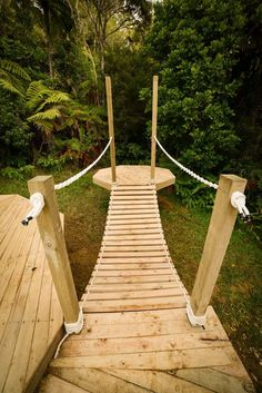 Want to build a rope bridge? In this video we show you how we constructed ours. It really is a fun and simple DIY project.
