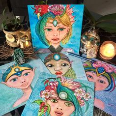Esprits de la nature by Aniane, pour rêver, décorer, écrire ! 🧜♂️🧝🏻♂️🧝♀️🎨💗🙏🏼 Illustration, Creations, Princess Zelda, Portraits, Fictional Characters, Nature, Studio, Cards, World