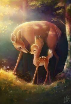 Bambi Disney, Arte Disney, Disney Fan Art, Disney Love, Images Disney, Deer Art, Good Morning Sunshine, Cute Disney Wallpaper, Cute Animal Drawings