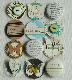 These discs would make a really great mobile for a nursery