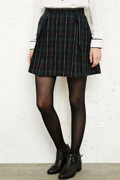 Shop Cooperative Tartan Pleated Skirt at Urban Outfitters today. Mini Jupe Tartan, Tartan Pleated Skirt, Urban Outfitters Women, Korean Dress, Jeans, Skater Skirt, Your Style, Mini Skirts, Street Style