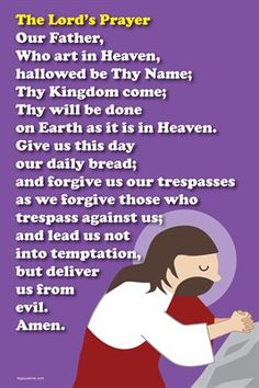 Happy Saints Prayer Posters: Happy Saints The Lord's Prayer Poster, $5.00 from MagCloud