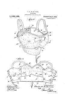 1914 Patent US1106184 - BRASSIERE - Google Patents