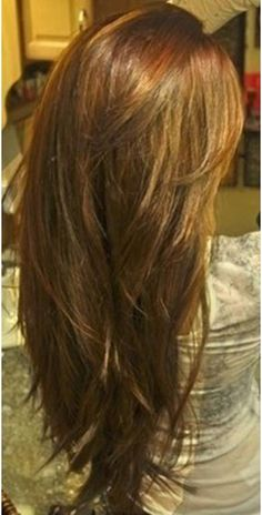 Long Layered Hair Back View | classic long layers via pinterest