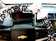 Steering wheel cover Damask Car Accessories by TurtleCoveStudio
