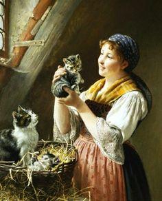 The Favorite by Wilhelm Schütze (1840 – 1898, German)